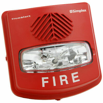 Simplex 4906-9131 Fire Alarm Weather Proof Av Non-Addr Wall Mt Red