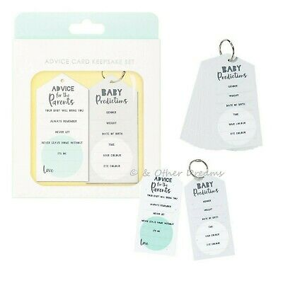 20 Born To Be Loved Baby Shower Advice / Prediction Cards Activity Game Keepsake