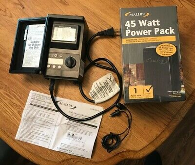 60 WATT TRANSFORMER with Photo Cell / Timer for Pond