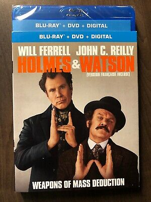 Holmes And Watson Blu-Ray & DVD w Slipcover Canada Bilingual NO DC LOOK