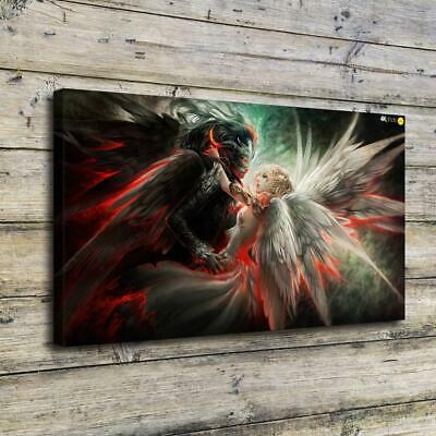 Black and White Angel HD Canvas prints Painting Home Decor Picture Room Wall art