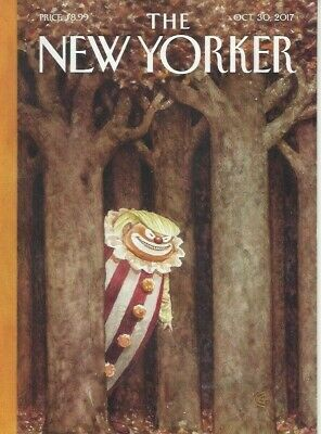 The New Yorker magazine ~ October 30 2017 ~ Trump Clown ~ OxyContin ~Laura Owens