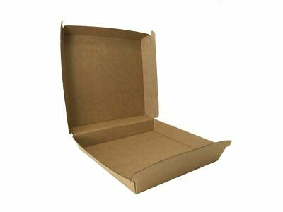 50x Cardboard Small Individual Pizza Box 163x163x47mm, Beta Board Natural Look