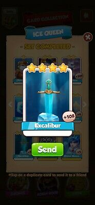 Coin Master Card Excalibur *Fast Delivery*
