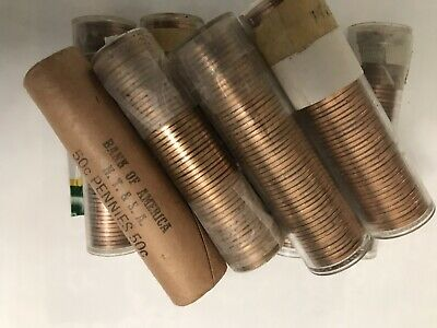 9 Rolls Of 1963-D Uncirculated Unsearched Lincoln Memorial Cents