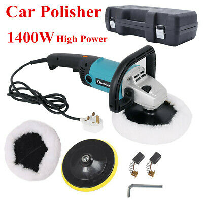 New 1400W Car Polishing Machine Car Polisher Buffer Sander Sponge Pad Tool Box