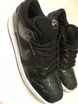 watch a1d49 a18a9 Nike SB Dunk Low Pro TRD QS Galaxy Black Patent Size 10 RARE LIMITED