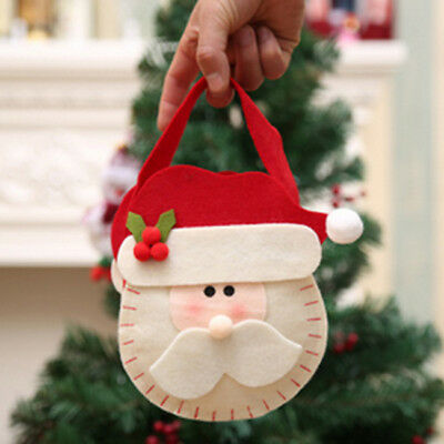 XmaChristmas Santa Snowman Elk Cookie Candy Bag Party Sweet Candy Empty Bag SO