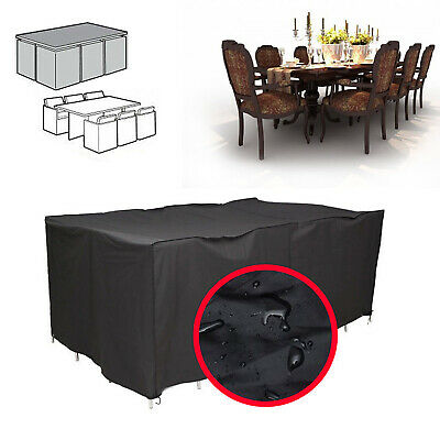 Extra Large Garden Outdoor Patio Rattan Furniture Rain Cover Shelter 6-8 Seater