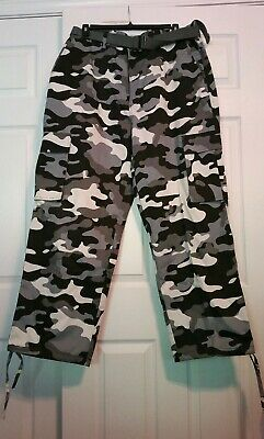 NWT MEN ACCESS Vintage Thin and Light Stone Washed CAMO PANTS AP13125