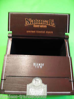NATURAL DREW ESTATE 5 x 50 Gourmet Blended Empty Collectible Wooden Cigar Box