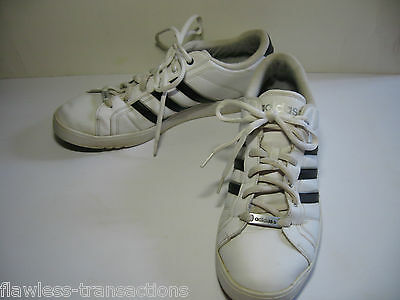ADIDAS NEO CALSHOT White Black Tennis Skate Padded Traction Shoes Size Mens 13