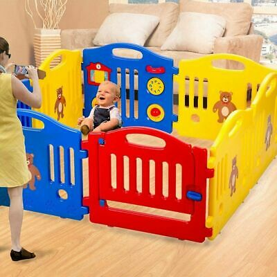 New 8 Panel Safety Play Center Yard Baby Playpen