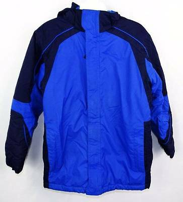 Kid's L.L. Bean Royal/Navy Colorblock Insulated Winter Ski Jacket M 10-12 EUC