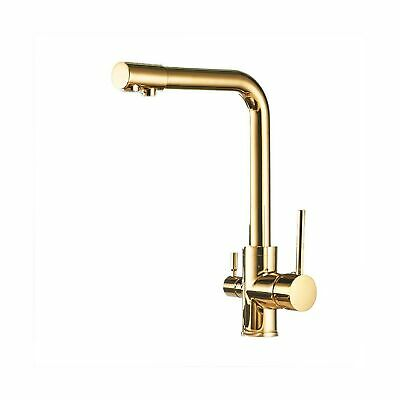 OWOFAN Round Deluxe 3 Way Kitchen Faucet for RO System - Brass Lead-Free 3 in...