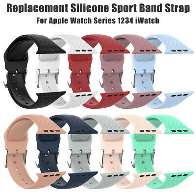 Replacement Silicone Sport Band Strap For Apple Watch Series 4/3/2/1 fg5h