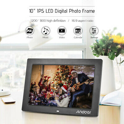 Anoder 10inch Digital Photo Frame Full View IPS Screen 1080P with Remote Control