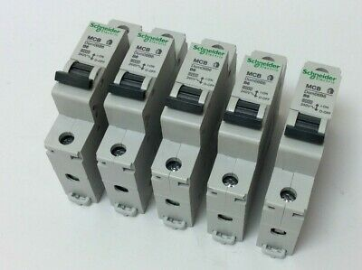 Schneider 6 Amp Mcb Job Lot Of 5 To Clear B Type 6 Amp Dom06B6