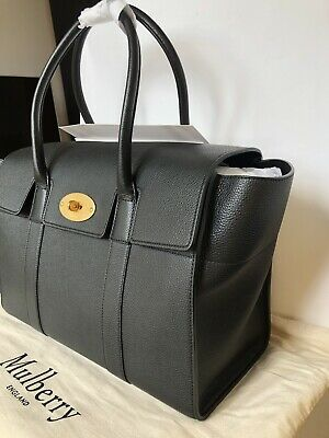 1cb7825f56 Mulberry Bayswater BLACK Hand Bag Tote Large Authentic BNWT RP £1,250 SOLD  OUT