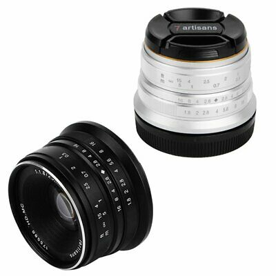 7artisans 25mm F1.8 HD Manual Focus Wide Angle Lens For Canon EOS M Mount Camera