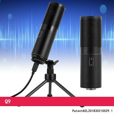 Q9 Desktop USB Condenser Microphone with LED Indicator