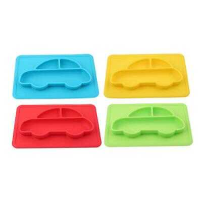 Silicone Happy Mat Baby Kids Suction Table Food Tray Placemat Plate Bowl SO