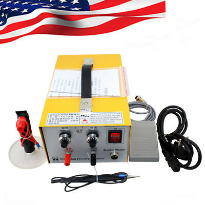 【US】 110v Pulse Sparkle Spot Welder Electric Jewelry Welding Equipment  New