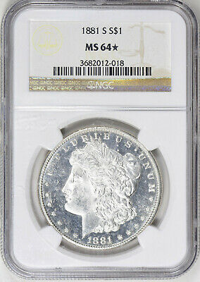1881-S Morgan Silver Dollar - NGC MS-64 Star - Mint State 64 Star - Nice Coin