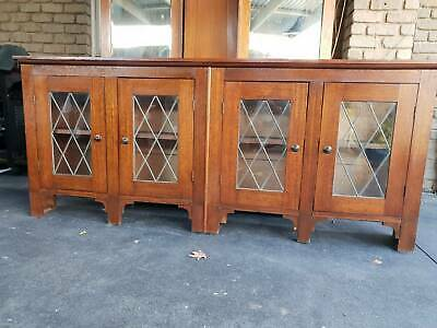 Vintage Leadlight Cabinet - different!
