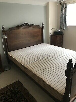 Beautiful Antique French 19th Century Oak Bed