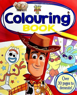 DISNEY Toy Story 4 Colouring Book 30 PAGES Art NEW Sheriff Woody Buzz Jessie Rex