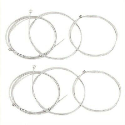 Complete Set of 6 Replacement Steel Electric Guitar Strings UK Seller