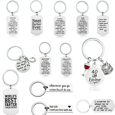 Stainless Steel Couple Keychain Love Keyring Key Ring Chain Lover Gift Husband