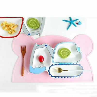 Silicone Mat Baby Kids Child Suction Table Food Tray Placemat MAT