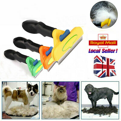 Pet Fur Deshedding Tool Moulting Grooming Brush Comb For Short & Long Hair Dogs