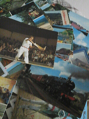 large selection of postcards
