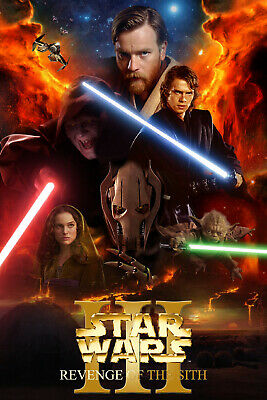 """STAR WARS REVENGE OF THE SITH 11""""x17"""" MOVIE POSTER PRINT #21"""
