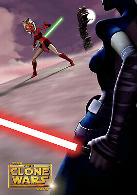 """STAR WARS THE CLONE WARS 11""""x17"""" TV SEIRES POSTER PRINT #4"""