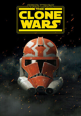 """STAR WARS THE CLONE WARS 11""""x17"""" TV SEIRES POSTER PRINT #6"""