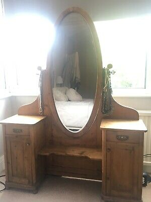 French Antique Pine Dressing Table