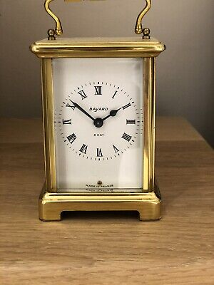 Antique French 8 day Bayard Duverdrey Bloquel brass carriage clock