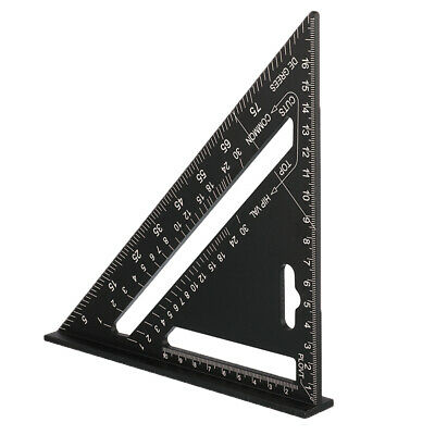 7'' Aluminum Triangle Ruler Protractor Miter Woodwork Rafter for Carpenter Angle