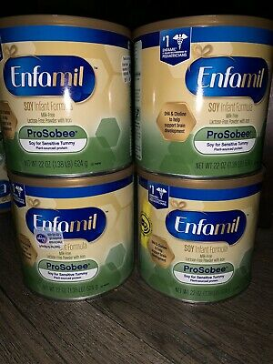 LOT OF (4) Enfamil Prosobee Soy Infant Powder, 22oz(  BIG CAN ) Free Shipping