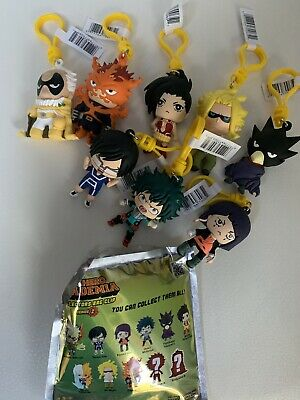 Funimation My Hero Academia  3D foam figural Collectible Bag clips opened Bag