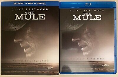 The Mule Blu Ray Dvd 2 Disc Set + Slipcover Sleeve Clint Eastwood Free Shipping