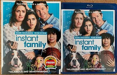Instant Family Blu Ray Dvd 2 Disc Set + Slipcover Sleeve Free World Wide Shippin