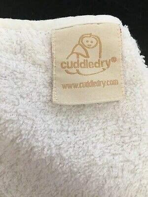 Cuddledry Apron Bath Towel (White) Very Good Condition  Baby Towel