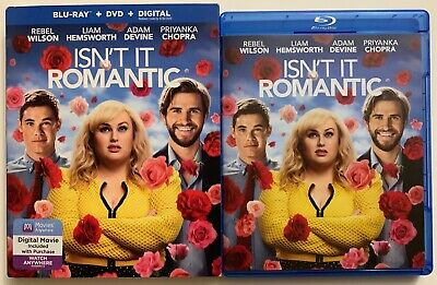 Isn't It Romantic Blu Ray Dvd 2 Disc Set + Slipcover Sleeve Free World Shipping