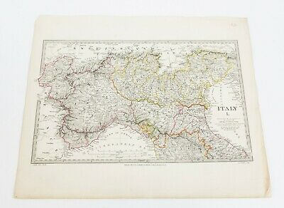 Antique 1832 SDUK Map of Northern Italy by Baldwin & Cradock