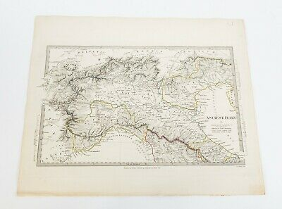 Antique 1832 SDUK Map of Ancient Italy by Baldwin & Cradock